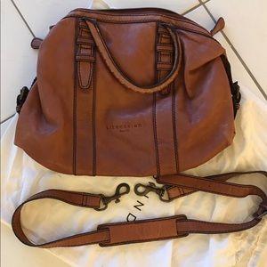 LIEBESKIND Brown Leather Crossbody Satchel